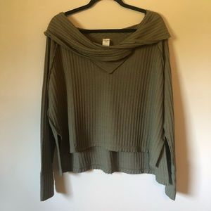 FREE PEOPLE - WE THE FREE - MOSS SWEATER SHIRT